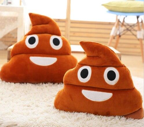 Browm Emoji Смайли Подушка какашка плюшевые подушки для домашнего декора детский подарок чучела Poop кукла-брелок для ключей G729