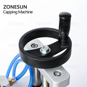 Image 4 - ZONESUN pnömatik kapatma makinesi Oral sıvı penisilin antibiyotik enjekte edilebilir şişe Capper alüminyum plastik cam flakon kıvırıcı