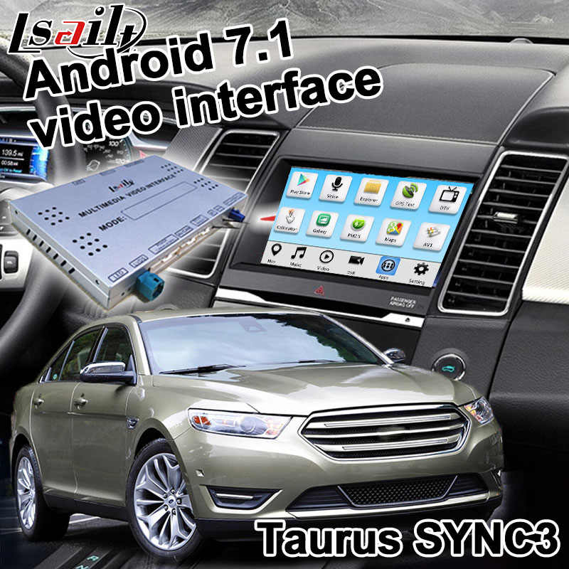 Android sistema de navegación GPS para Ford Taurus etc. Interfaz de vídeo SONY sincronización 3 Carplay enlace espejo quad core waze youtube wifi