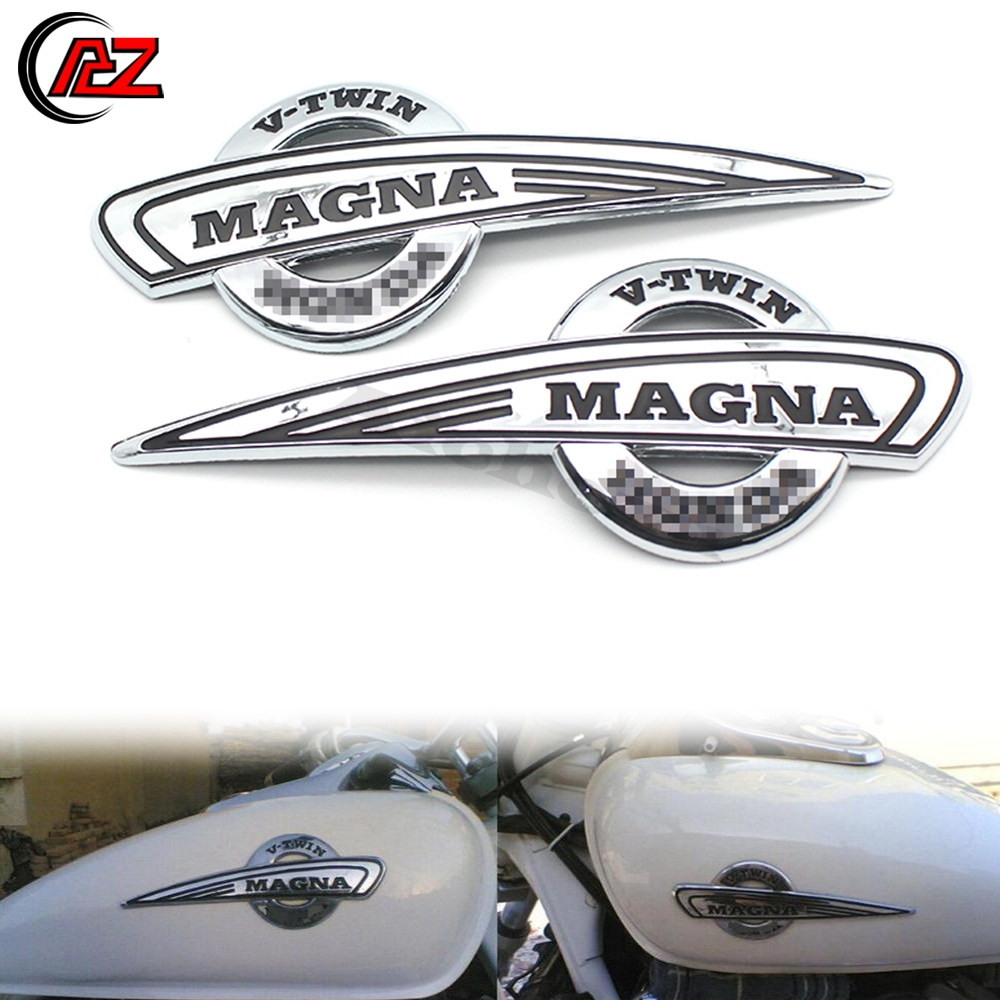 PAIR of silver Victory HAMMER Decals Gas Tank stickers logo emblem