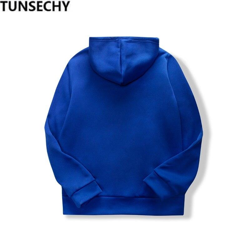 19 women's long-sleeved plain hooded sweatshirt plain multi-color men's and women's casual pullover hoodie 5
