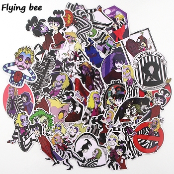 Flyingbee 38 pcs Funny Waterproof Car Sticker fashion PVC scrapbooking Stickers for DIY Luggage Laptop Notebook Sticker X0354 46 pcs set the office funny stickers waterproof stickers for suitcase luggage laptop diy sticker pvc skateboard sticker g0172