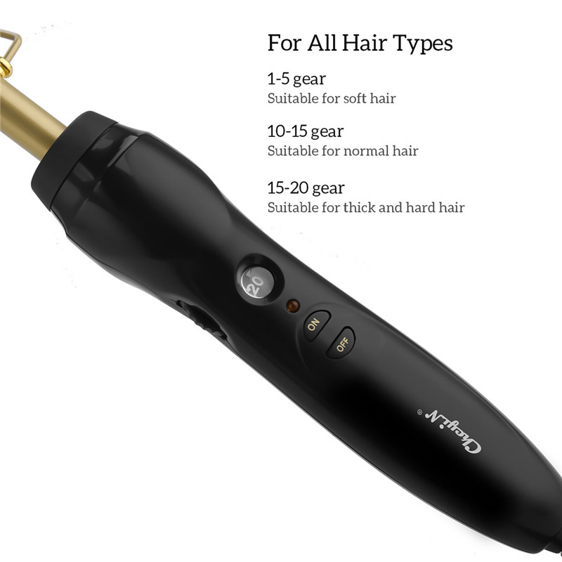 Image 5 - Hair Brush Comb Straightener Electric High Heat Press Comb Hot Straightening Curling Iron Fine Brass Teeth Hair Styling Tool 38-in Combs from Beauty & Health