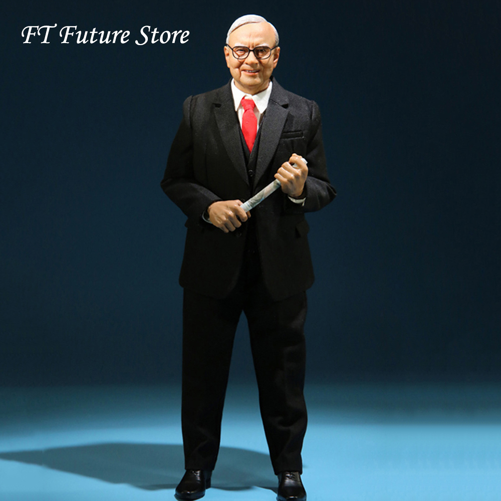 In Stock MCC022 1/6 Scale Collectible Male Action Figure Financial Tycoon Buffett Collection Doll Model For Fans Gifts