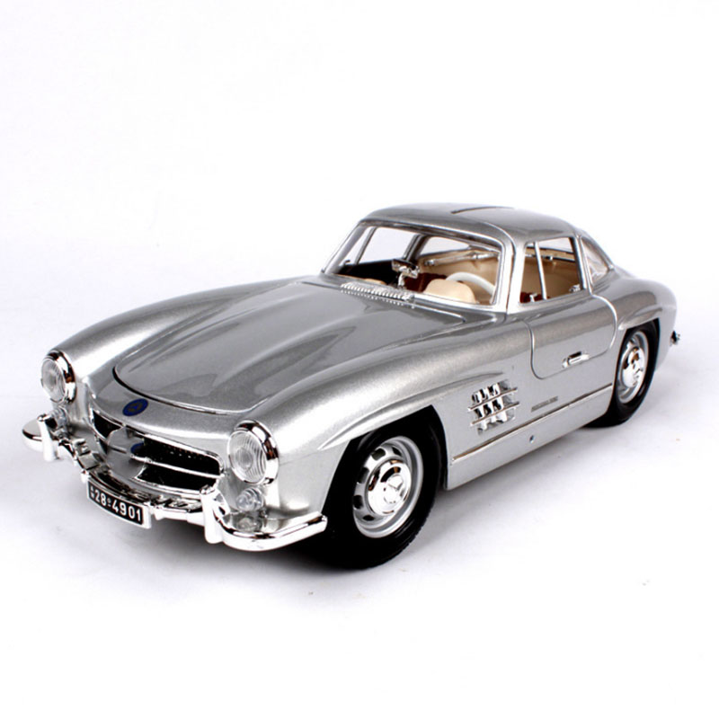 1/18 Scale Alloy Diecast  1954 Classic  Car Model 300SL High Simulation Car Model Vehicles Toys For Fans Collections