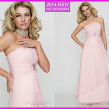 WE-27 New Elegant Pink Sweetheart Chiffon Mother Of The Bride