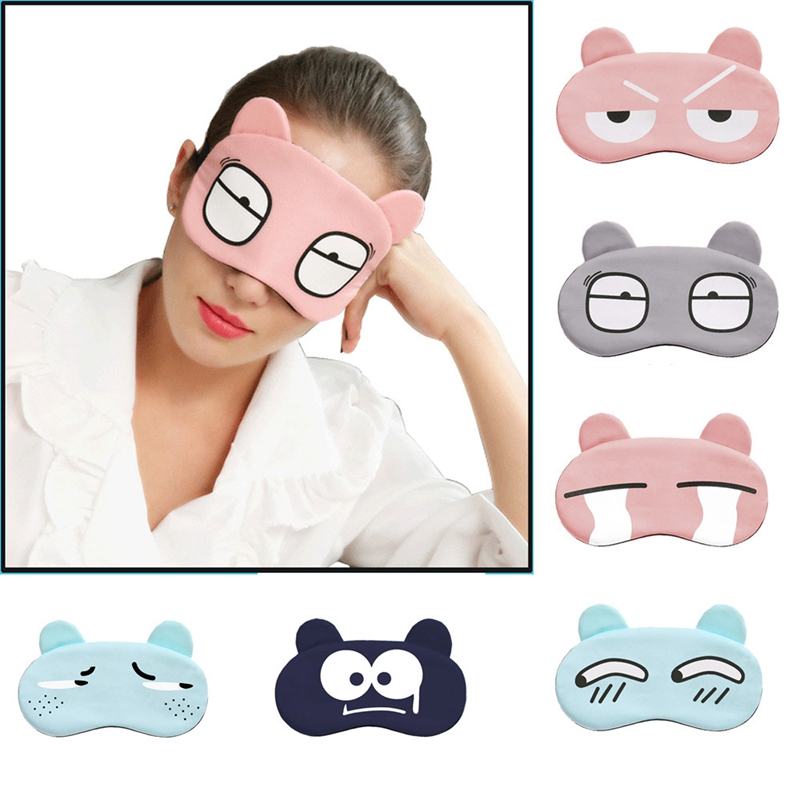Cartoon Sleep Mask For Pregnant Women New Mother Sleeping Eyeshade Ice Bag Eye Relax Cover Travel Aid Rest Wacky Expressions
