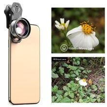 Apexel 100 мм супер макрообъектив для камеры телефона hd оптический