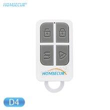 HOMSECUR(2 шт/4 шт/10 шт опционально) беспроводной пульт дистанционного управления 433 МГц D4 для нашей 433 МГц домашней системы охранной сигнализации