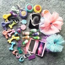 Random 12pcs Cute Accessorries for Pet shop Collie Short Hair Cat cocker Spaniel dog and Dachshund Best Gift