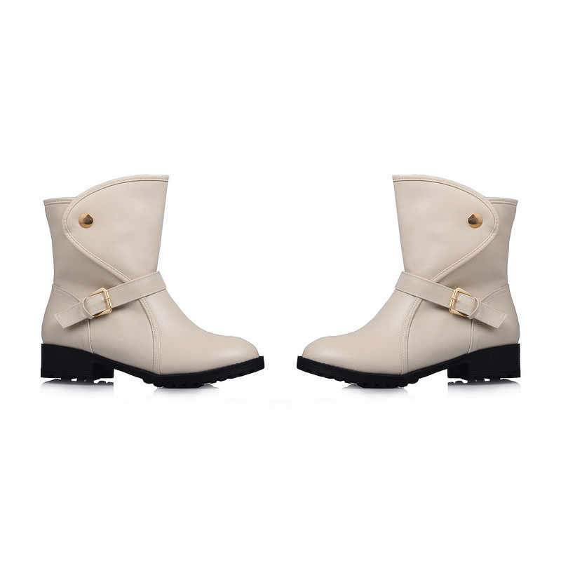 MEMUNIA 2020 yeni varış kadın yarım çizmeler yuvarlak ayak üzerinde kayma sonbahar kış çizmeler rahat alçak topuklu rahat ayakkabılar bayanlar