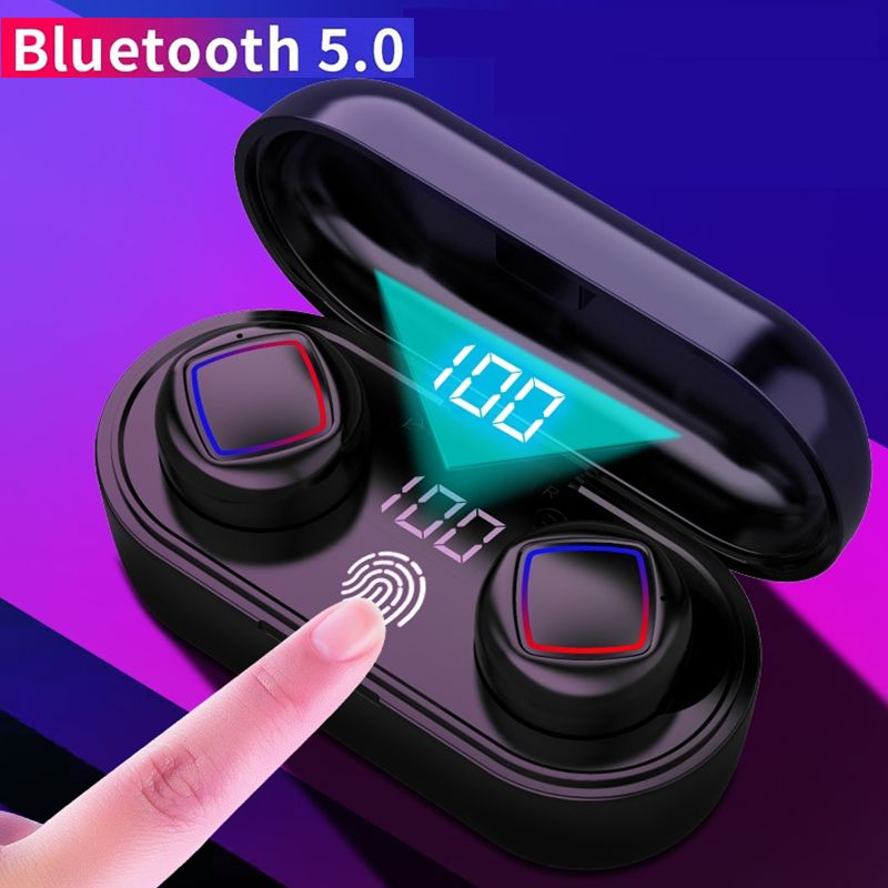 NEW <font><b>TWS</b></font> bluetooth Earbus HiFi bluetooth 5.0 Earphone Noise Cancelling 6D Stereo LED Display IPX6 Waterproof Smart <font><b>Touch</b></font> Earphone image