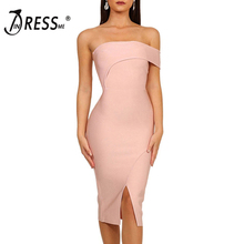 INDRESSME 2020 Vestidos Women Fashion Sexy Bandage Dress One