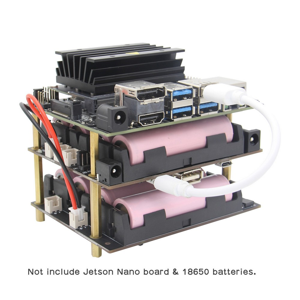 NVIDIA Jetson Nano 18650 UPS&Power Management Expansion Board,  T200 Shield For NVIDIA Jetson Nano Developer Kit