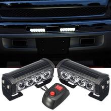 SUHU 12V Auto LED Strobe Blinklicht 7 Licht Modi Wasserdicht Grille Licht Warnleuchten Notfall Auto Lkw Lampe zubehör