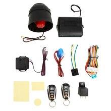 Universal Car Security Alarm Remote Control Central Locking System ImmobiliserwithShock Sensor