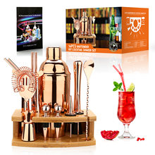 Cocktail Shaker Making Set, Stainless Steel Bar Tools For Bartender Drink Party, Mixer Wine Martini Boston Kit 750ML