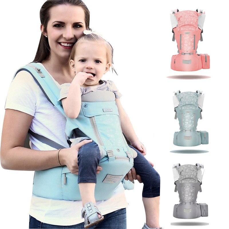 SeckinDogan Baby Carriers Ergonomic Kangaroo Baby Bag Comfortable Cotton Hip Seat Convenient Baby Sling High Waist Baby Carrier
