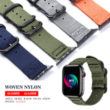 Hot Sell Nylon Watchband for Apple Watch Band Series 4/3/2/1 Sport  Bracelet accessories 42 mm 38 mm 40mm 44mm Strap For iwatch eastar plastic protective case shockproof watchband for apple watch series 3 2 1 sport 42 mm 38 mm strap for iwatch band