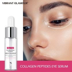 VIBRANT GLAMOUR Collagen Peptides Eye Serum Hyaluronic Acid Anti-Aging Essence Liquid Remover Wrinkle Dark Circles Puffiness