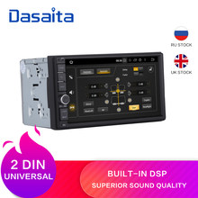 "Dasaita 7 ""Android 9.0 Octa Core 4G + 32G Universele Dubbele 2 Din Voor Nissan Auto Audio stereo Gps Navigatie Radio Auto Multimedia(China)"