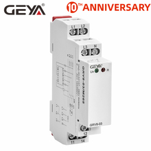 Free Shipping GEYA GRV8-03  Voltage Monitoring Relay Phase Sequence and Phase Failure Protection Relay 8A 10A 1SPDT 2SPDT the phase protection relay 380v power broken phase fault phase overvoltage and undervoltage detection monitoring rd6 w