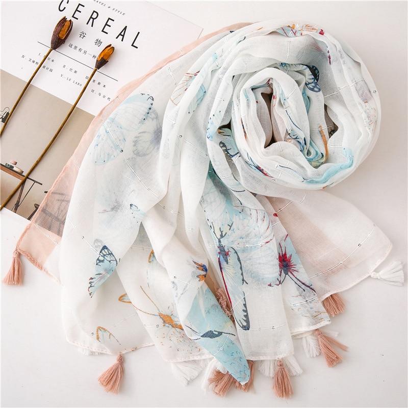 KYQIAO шарф женский fresh winter scarf women South Korea style long print scarf shawl палантин Sjaal Muslim Hijab