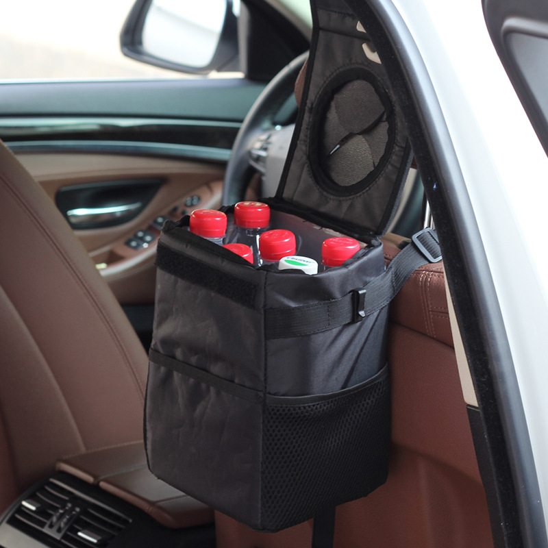 Creative folding storage box for cars Waterproof back storage Car trash can trash can