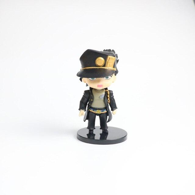 5PCS anime jojo bizarre adventure figure Kujo Jotaro figurine Higashikata Josuke Kakyoin Noriaki Action Figure model toy 10-11CM 1