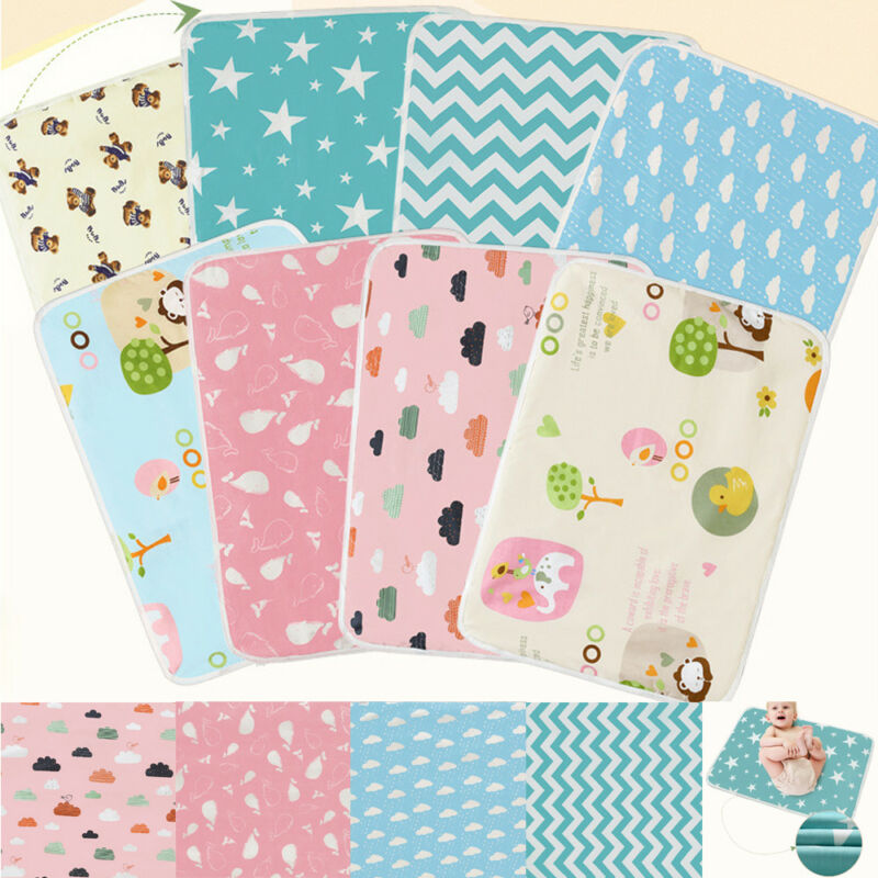 PUDCOCO Waterproof Changing Diaper Pad Cotton Baby Infant Urine Mat Nappy Bed Cover Washable 50*70cm