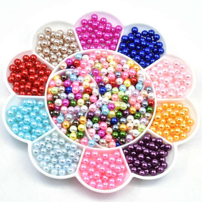 1000PCS 3mm Imitation Pearl Beads Round White Acrylic Bead DIY Jewelry Making