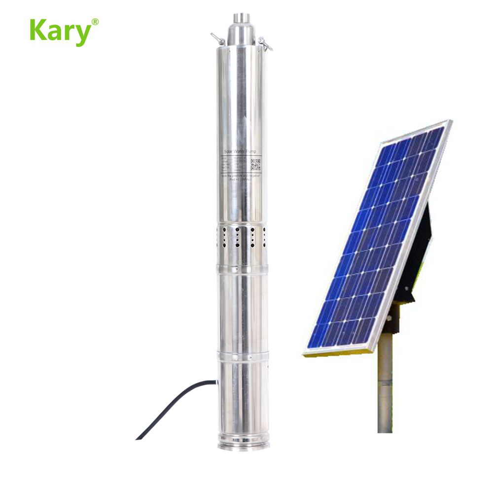 Kary 24v Centrifugal Bomba De Agua Solar Pump, Solar Water Pump Kit, Dc Submersible Pump With MPPT Controller