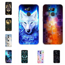 For Huawei Honor 6C Pro Case Soft TPU Silicone Cover Cartoon Patterned V9 Play Shell