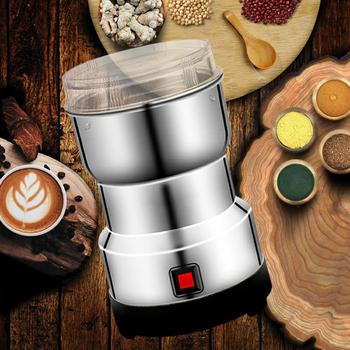 Młynek do kawy wielofunkcyjna maszyna Smash elektryczne zboża młynek do ziarna przyprawa zioło narzędzie do szlifowania Nut Coffee Bean Spice tanie i dobre opinie Kesoto NONE CN (pochodzenie) Electric Coffee Grinder Other STAINLESS STEEL