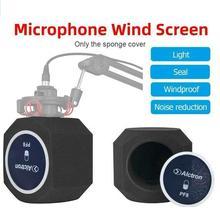 PF8 מיקרופון קצף Windproof ספוג כיסוי נגד רעש מגן כיסוי אנטי תרסיס B6L2