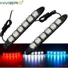 Led-Strip Light Auto-Decorative 1x6leds White High-Power Shell 12V Daytime Black Flexible
