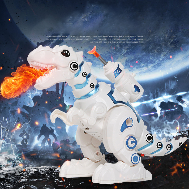 Electric Dinosaur Remote Control Dinosaur Robot For Kids Intelligent Sounds Toys Sprays Mist Walking Electronic Models For Kid