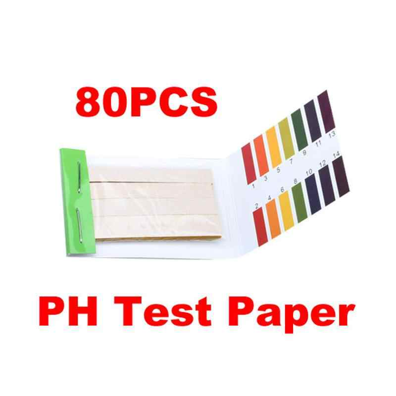 Luar Biasa 80 Strip PH Test Strip Aquarium Air Pengujian Ph Litmus Paper Berbagai Alkaline Acid 1-14 kertas Uji Litmus Test