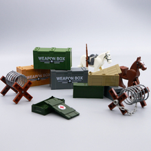 Building Blocks LegoINGly Military ww2 Weapons Guns Box Horse Barbed wire obstacle Fence Army Arm Figure Accessories Bricks Toys