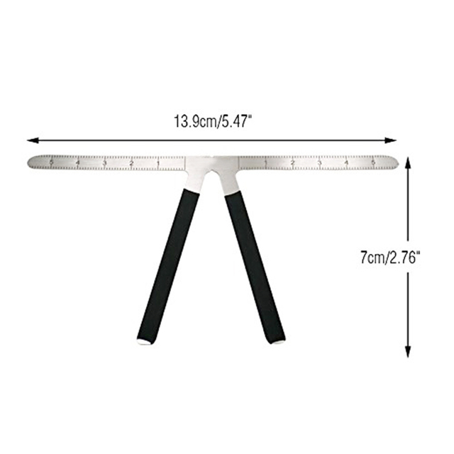 2Pcs Three-Point Positioning Ruler Permanent Makeup Tattoo Eyebrow Measure Ruler Symmetrical Balance Grooming Stencil Tool 1