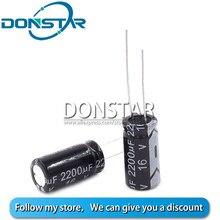 10 pces 16v 2200uf capacitor eletrolítico 2200uf 16v 10*20mm capacitor eletrolítico de alumínio