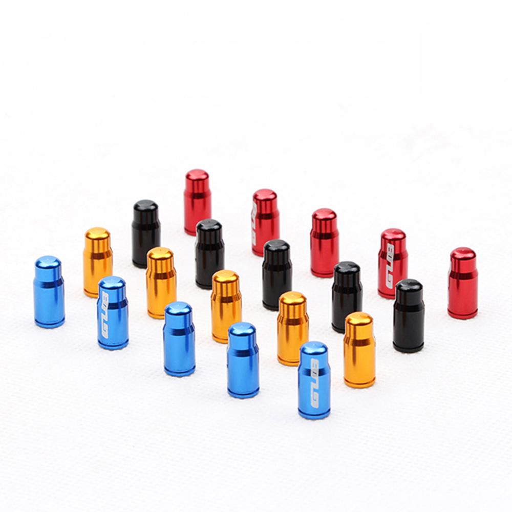Купить с кэшбэком 2pc Aluminum Bicycle Tire Valve Cap Ultralight Mountain Road Bike Valve Cap Schrader/Presta Tire Valve Protector MTB Accessories