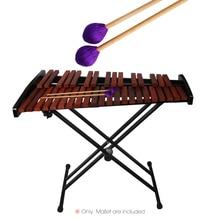 1 пара Середина Marimba палка молоток ксилофон Glockensplel молоток с ручки из бука музыкальные аксессуары молотки для любителей