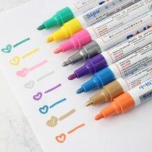 AngelHere Store 1 шт. Перманентная краска Mark 3 мм шина водонепроницаемый знак CD стекло масляная ручка краска канцелярские краски ручка
