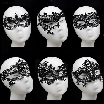 Продукт секса для женский, черный кружевная маска на глаза выдалбливают Хэллоуин Косплэй секс маска с повязкой с новой уникальной технологией рассеивания садо-1 шт.