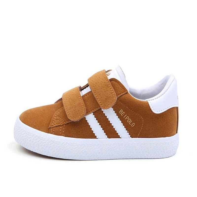Children Hook & LooP Casual Shoes 2020 Spring Cute Boys Girls Breathe Sport Flats Baby School PU Leather Sneaker Toddler Shoes