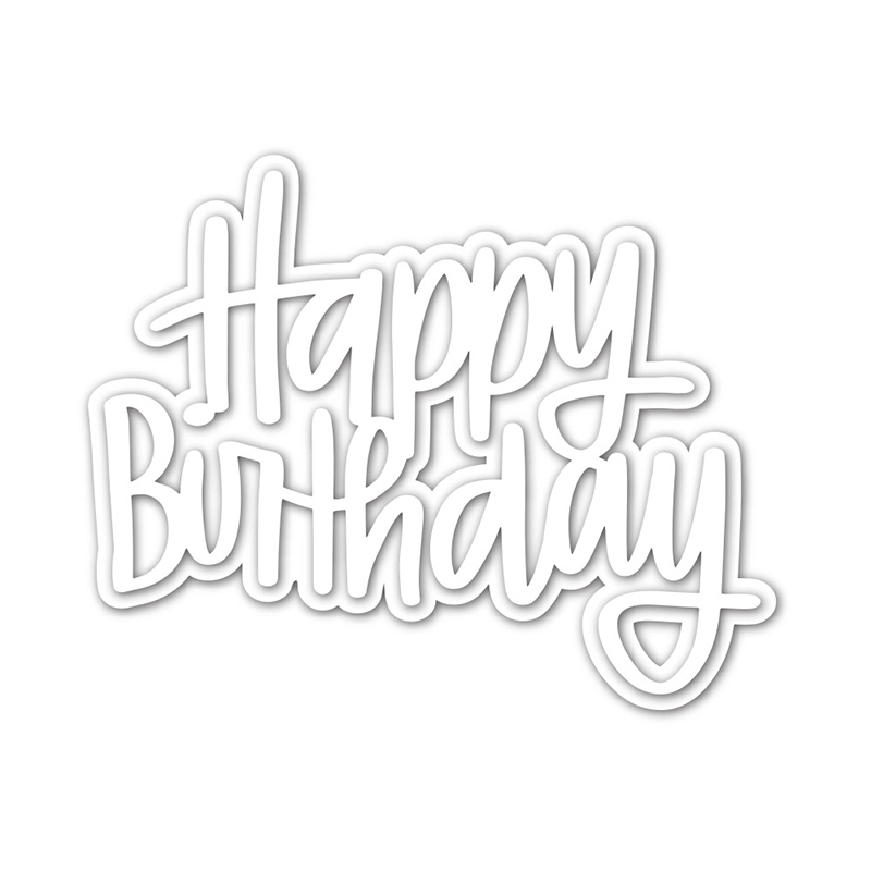 Craft Embossing Scrapbooking-Stamps Making-Stencil-Template Stitched Happy-Birthday New-Arrival