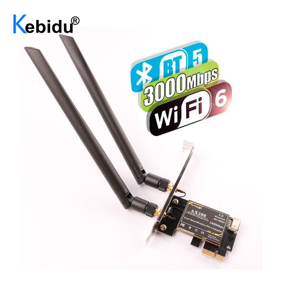 Wi Fi адаптер Intel AX200 5 ГГц, Wi Fi адаптер AX200, Wi Fi донгл 5 ГГц, Bluetooth сеть, Wi Fi 6 карт, PCI Express антенна для ПК|Сетевые карты|   | АлиЭкспресс