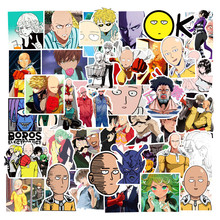 Anime Stickers Refrigerator One-Punch Laptop Fridge Motorcycle 50pieces Man for Wall-Decor