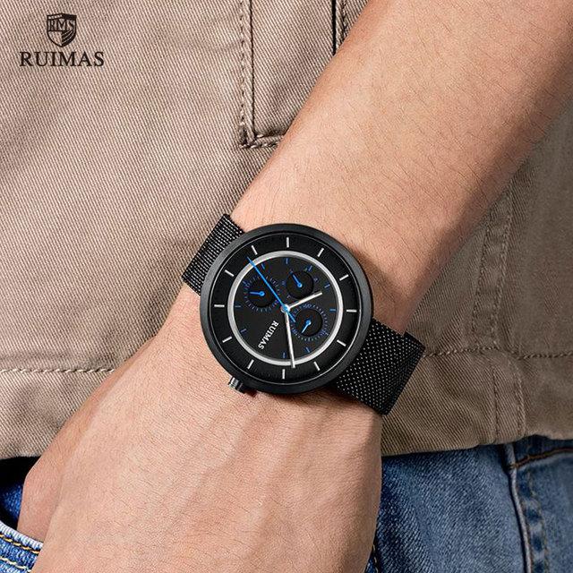 Ruimas Watches Dress Quartz Steel Mesh RS569G